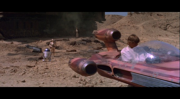 Las escenas en Tatooine lucen algo borrosas.